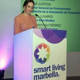Lorena Codes presentadora del Marbella Smart Living