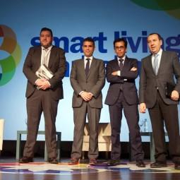 Acto-de-inauguración---De-izq-a-dcha-Juan-Luis-Cruz,-José-Bernal,-Manuel-Ortigosa-y-José-Luis-Ruiz-Espejo