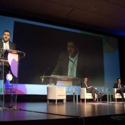 Juan-Luis-Cruz,-decano-del-COITT-A-y-presidente-de-AAGIT,-durante-su-intervención-en-el-acto-de-inauguración